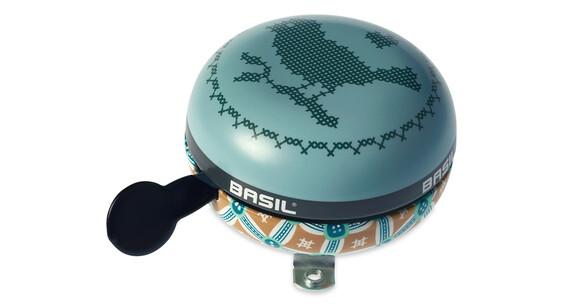 Basil Big Bell Bohème fietsbel turquoise/bont